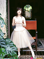 Nozomi Ando Asian in stockings and ballerina dress is amazing